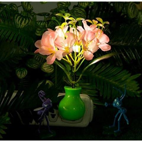 Bluelover Violeta Sakura LED dimmer luz nocturna 7 colores cambiantes cuadros luz Control inicio de regalo -