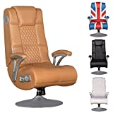 Wohnling Soundchair SPECTER Gaming Chair Caramel Soundsessel Multimediasessel Musik Rocker