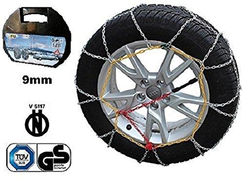 Catene da neve 9 mm Gruppo 8 per pneumatici 205//60//15