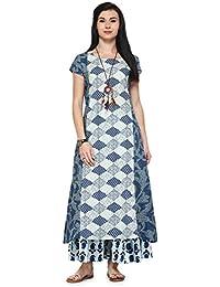 Varanga Indigo Cambric printed Kurta KFF-MNMAW16101175