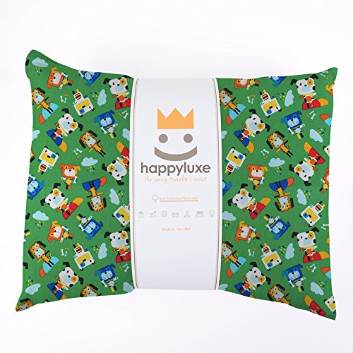 Happyluxe spedizione di viaggio dei bambini cuscino, super soft, 100% cotone, lavabile in lavatrice e ipoallergenico, 18