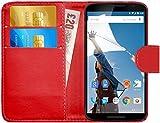 G-Shield Coque Nexus 6, Étui à Rabat en Cuir [Emplacements pour Cartes]...