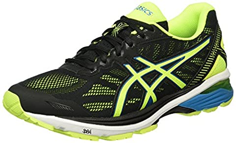 Asics GT-1000 5, Men's Training Shoes, Black (Black/Safety Yellow/Blue Jewel), 10 UK (45 EU)