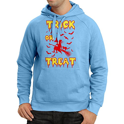 Kapuzenpullover Trick or Treat - Halloween Witch - Party outfites - Scary costume (XX-Large Blau (Snape Kostüme Halloween)