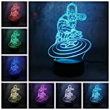 Marval series LED 3D Illusion Mood cambia de color Night Lights Legends Lights Home Decor n gift