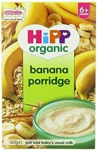 "HiPP Organic Stage 1 ""From 6 Months"" Banana Porridge 160 g (Pack of 4)"