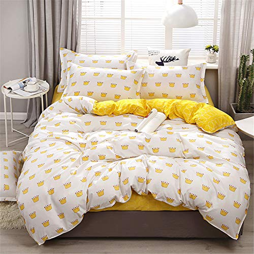 28a76c291a6 YUNSW Soft Bedclothes Polyester Quilt Cover Bedding Set with Pillowcase  Queen King Duvet Cover Set C