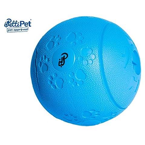 Hunde-Spielzeug Ball aus Naturkautschuk | Natur-Gummi Hunde-Ball robust für Leckerli & Snacks |