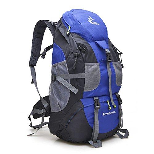 Yueer All'aperto Borse Per Alpinismo Uomini E Donne Studenti Spalle Viaggio Esercizio Fitness Arrampicata Su Roccia Grande Capacità Zaino 50L,C A