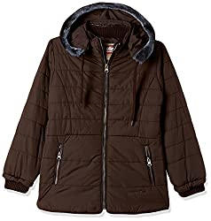 Fort Collins Girls Regular Fit Synthetic Jacket (69150_Coffee_30 (10 - 11 years))