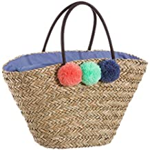 Bolso de Rafia para Playa Forrado en Azul romántico Vitta - LOLAhome