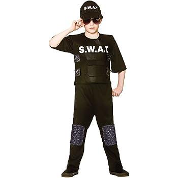 Kids Boys Swat Team Commander Uniform Fancy Dress 5 7 Years