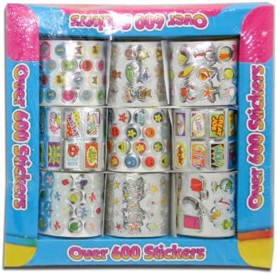 Artbox 6229 - Set de pegatinas (600 unidades), multicolor