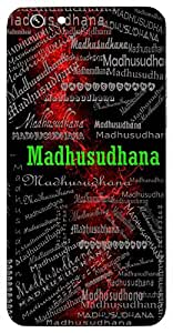 Madhusudhana (Lord Krishna, One Who Killed Demon Madhu, Bee) Name & Sign Printed All over customize & Personalized!! Protective back cover for your Smart Phone : Apple iPhone 6