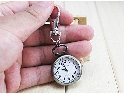 brandchef (TM) Hot beliebtes Damen Süße Krankenschwester Brosche Fob Taschenuhr Bronze Quarz Vintage Taschenuhr Bewegung Schlüsselanhänger armbanduhr, 1