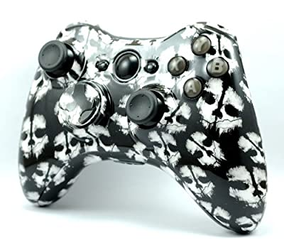 Call of Duty Ghosts Hydro Dipped Custom Wireless Xbox 360 Controller Shell Control Blast