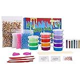 SuSenGo Super Slime Set - Bolas coloridas de espuma de limo y colorido, decoración de cara de fruta fresca, polvo luminoso, tarros de batido de escarcha holográfica para fango de bricolaje
