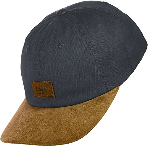 Curved Suede Cap Größe: One Size Farbe: Charcoal
