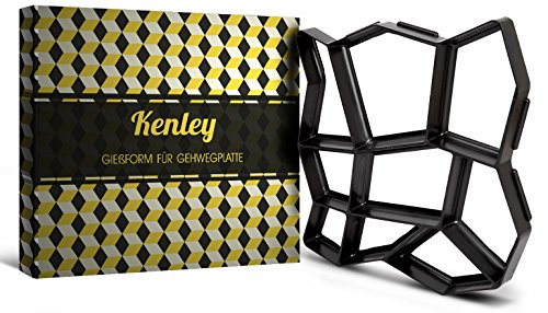 Kenley 43 x 43 cm Gehweg Betonform Schalungsform Pflasterform - Wiederverwendbare Gießform Schablone Garten Natursteinpflaster Pflaster Stein Form