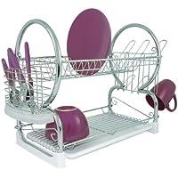 Premier Housewares - Escurridor de platos de 2 pisos (con bandeja extraíble  color blanco) 263e747e186c