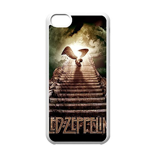 Classical Style Case with Led Zeppelin Lightweight Plastic Protective Back Cover for iPhone 5C -White030912