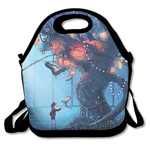 Tote Lantern Tree Lunch Boxes Lunch Bags Handbag Food Storage Fits for School Travel Work Outdoor ()
