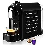 Aicok Machine à Espresso pour Capsule Compatible Nespresso, 20 Bar, 25s Chauffage Rapide avec Système D'économie D'énergie, Boutons Programmables pour Espresso et Lungo, 0,7L, 1255W, Rouge et Noir