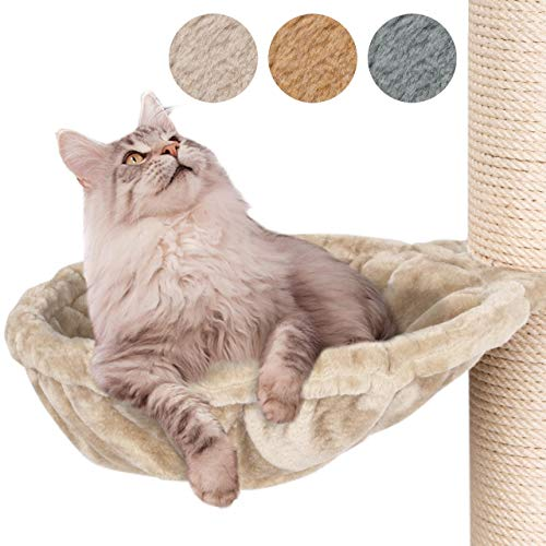 Happypet Liegemulden für XXL Kratzbaum Schlafmulde Zubehör für große Katzen (Maine Coon) Ø 45cm, Creme