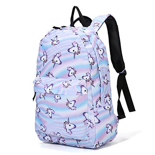 Tezoo Casual Schulrucksäcke Rucksack Damen Einhorn Rucksäcke Schule Daypacks Kinderrucksack für 14 Zoll Laptop College Backpack für Kinder Jungen Studenten Blau (Schule Lightweight Rucksack)