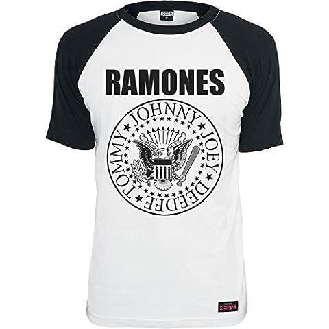 Ramones Seal Camiseta blanco-negro