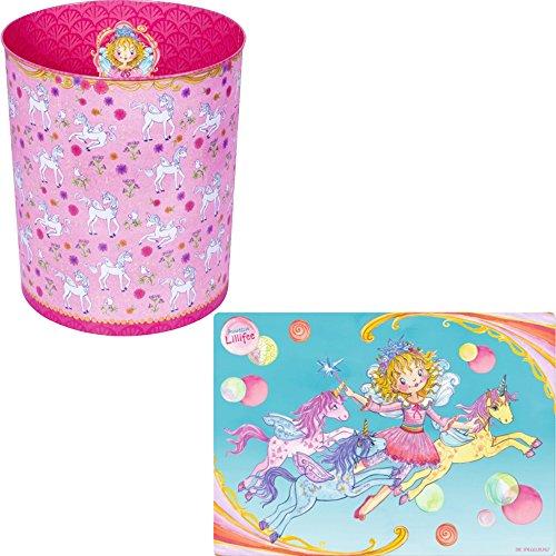 Spiegelburg Prinzessin Lillifee 2er Set 12771 12805 Zauberhafter Papierkorb + Schreibtischauflage