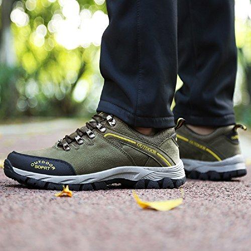 Joyto Trekking Chaussures Homme Randonnée Escalade Sport Marcher Marche Chaussures De Plein Air Gris Marron Armée Vert 39-48 Vert
