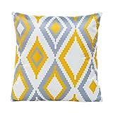 Angelof Satin Géométrique Throw Pillow Case Housse de coussin Décoration de maison 45cm * 45cm (E)