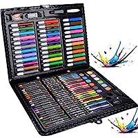 Legendog Set de Dessin,150PCS Crayon de Couleur Professionnel,Set de Dessin Enfant,Set de Peinture,Crayons de Couleur…