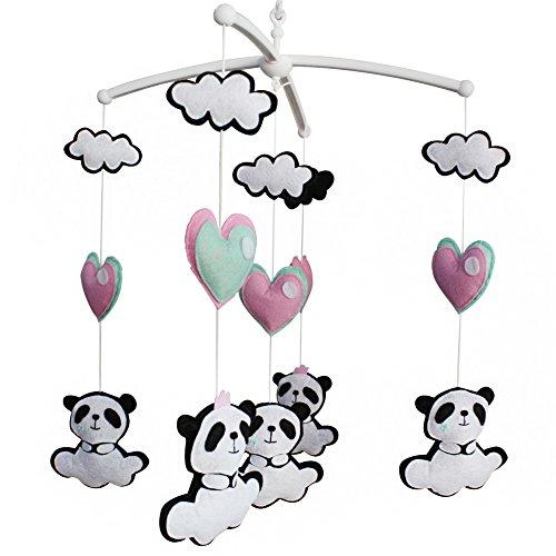 Panda Mobile (Bunte Dekor Spielzeug, Musical Mobile, [Panda] Hängende Krippe Spielzeug)
