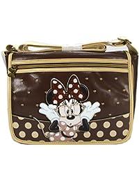 Disney Minnie Mouse Damen Umhängetasche Handtasche Damenhandtaschen Tasche Schultertasche Braun