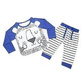 kingko® garçons de bébé nouveau-né 1Réglez enfants Tiger Imprimer T-shirt Tops + Pantalons Vêtements Tenues (18M, Marine)