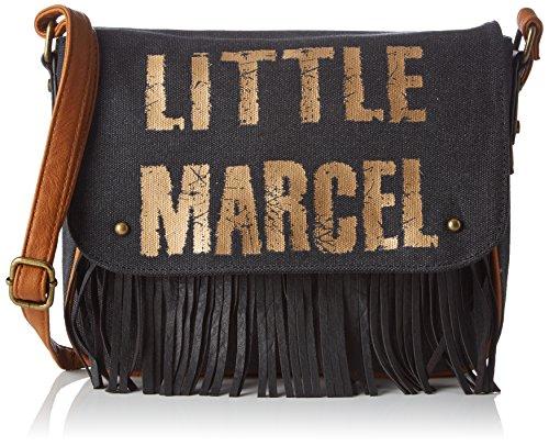 Little Marcel femme Vi04 Sac bandouliere Noir (Black)