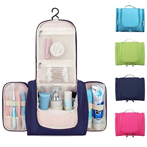 60ff4cdb84 Beauty Case da Viaggio Uomo Donna 16 Scomparti Borsa Da Toilette Grande Con  Gancio Da Appendere