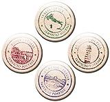 guma magneticum 2545Frigorífico Imanes Italia Juego de 4sellos 50mm de diámetro Países Imanes con diseño tarjetas postales Amor