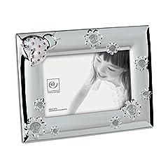 Idea Regalo - Mascagni Casa Cornice Portafoto Formato 10X15 con Fantasie E Cristalli Swarovski 108, Metallo, Multicolore, 17 x 22 x 1,5 cm