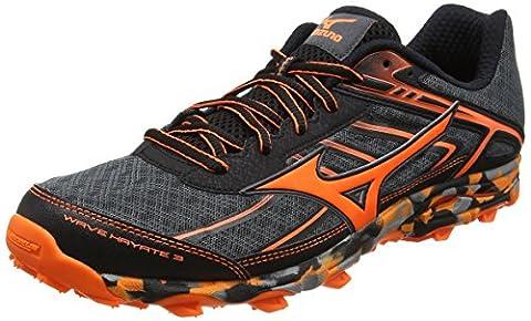 Mizuno Wave Hayate 3, Chaussures de Running Compétition Homme, Noir (Dark Shadow/Clownfish/Black), 43 EU