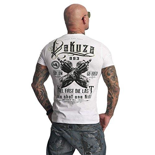 Yakuza Original Herren One Shot T-Shirt Weiß ...