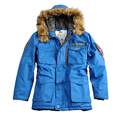Alpha Industries Herren Parkas Mountain Parka Royal