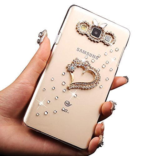 Sunroyal® Ultra Sottile Bling Hard Duro Back Custodia in PC Plastica per Samsung Galaxy A3 SM-A300F 4.5