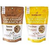 Rawcology | 2 pack Granola croccanti al limone e alla banan biologichi | Senza zuccheri aggiunti, senza glutine, chetogenico, paleo, raw...