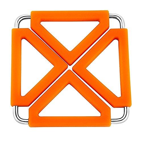 Hot Plate Holder (2 Stück Tischsets Silikon Topflappen Platzsets Hitzebeständige Platzmatten Wärmeisolierung Table Mat Küche Werkzeuge Creative (2 Stück Orange))