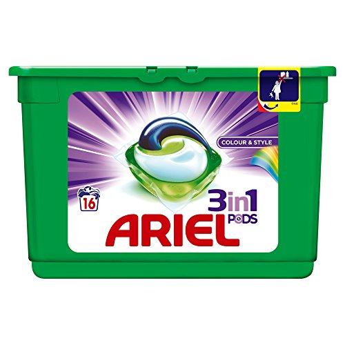 Ariel 3en1 Pods Ecodoses Couleur & Style Lessive en Capsules 16Lavages