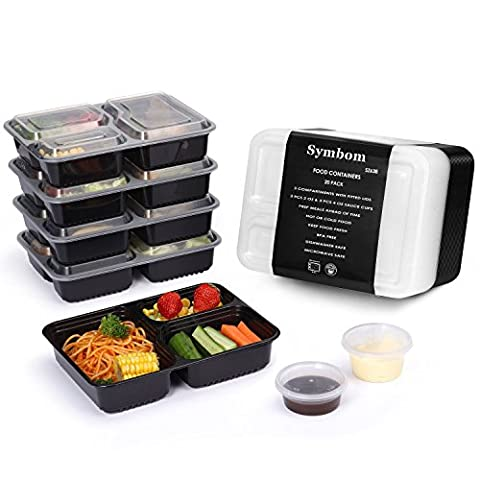 [Paquets de 20] Symbom 1000ml Bento Box / Lunch box/