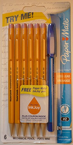 paper-mate-3037631pp-sharpwriter-mecanico-twist-lapiz-goldenrod-07-mm-5-pk-por-papel-mate